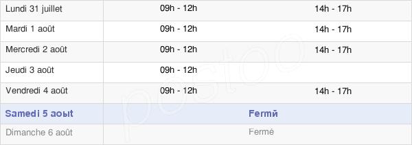 horaires d'ouverture de la Mairie De Sel-De-Bretagne