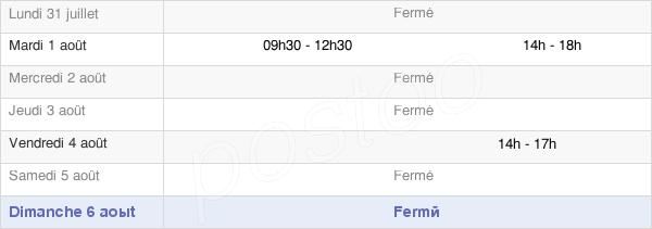 horaires d'ouverture de la Mairie Du Tiercent