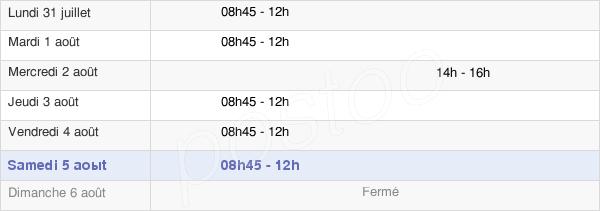 horaires d'ouverture de la Mairie De Monterfil