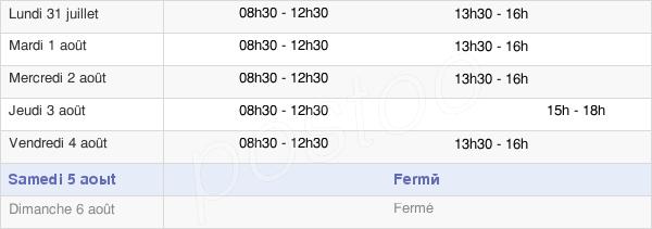horaires d'ouverture de la Mairie De Saint-Lunaire