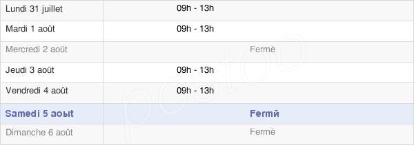 horaires d'ouverture de la Mairie De Saint Antonin Sur Bayon