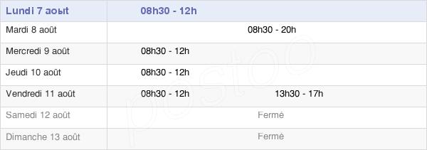 horaires d'ouverture de la Mairie De La Dominelais