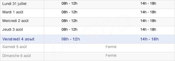 horaires d'ouverture de la Mairie De Restinclières