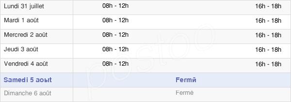 horaires d'ouverture de la Mairie De Puissalicon