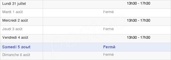 horaires d'ouverture de la Mairie Du Puech