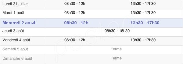 horaires d'ouverture de la Mairie D'Ingré
