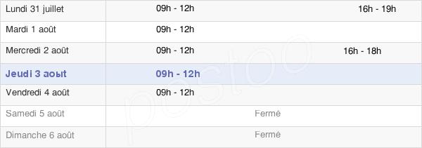 horaires d'ouverture de la Mairie D'Aspiran