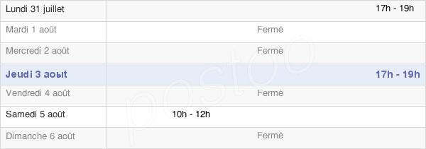 horaires d'ouverture de la Mairie De Pers-En-Gâtinais