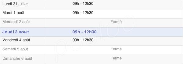 horaires d'ouverture de la Mairie De Cesseras