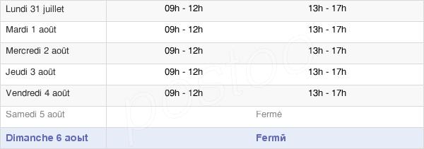 horaires d'ouverture de la Mairie De Saint-Clément-De-Rivière