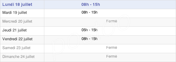 horaires d'ouverture de la Mairie De Cambon-Et-Salvergues