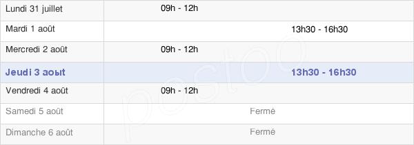 horaires d'ouverture de la Mairie D'Olargues