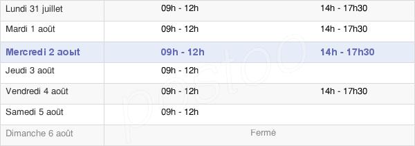 horaires d'ouverture de la Mairie De Fontenay-Sur-Loing