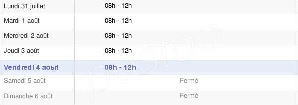horaires d'ouverture de la Mairie De Roquebrun