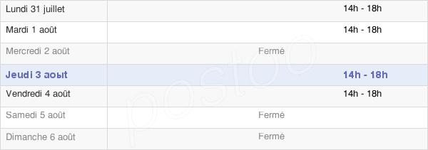 horaires d'ouverture de la Mairie De Saint-Jean-De-La-Blaquière