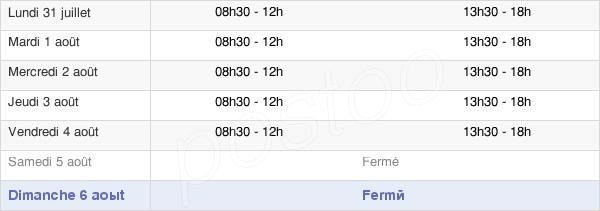 horaires d'ouverture de la Mairie De Boujan-Sur-Libron