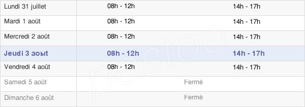 horaires d'ouverture de la Mairie De Bédarieux