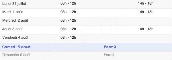 horaires d'ouverture de la Mairie De Brignac