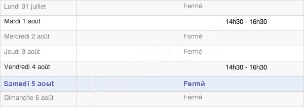 horaires d'ouverture de la Mairie De Ferrières-Poussarou