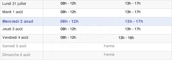 horaires d'ouverture de la Mairie De Marsillargues