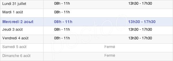 horaires d'ouverture de la Mairie De Villemagne-L'Argentière