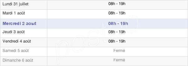 horaires d'ouverture de la Mairie De Béziers