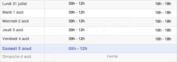 horaires d'ouverture de la Mairie De Cessenon Sur Orb