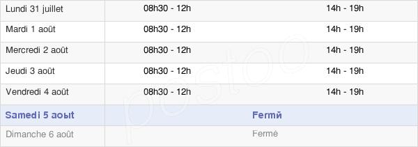 horaires d'ouverture de la Mairie De Saint-Just