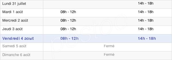 horaires d'ouverture de la Mairie D'Assas
