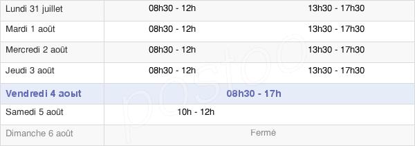 horaires d'ouverture de la Mairie D'Auxy