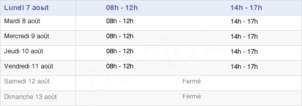 horaires d'ouverture de la Mairie De Mons-La-Trivalle