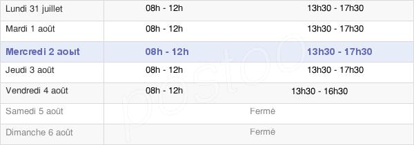 horaires d'ouverture de la Mairie De Gigean