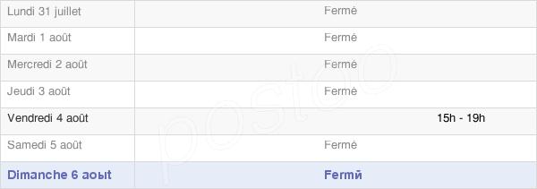 horaires d'ouverture de la Mairie De Foucherolles