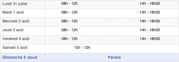 horaires d'ouverture de la Mairie De Saint-Geniès-Des-Mourgues