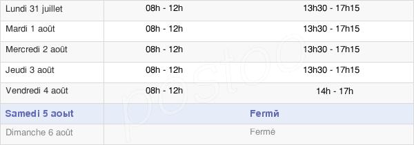 horaires d'ouverture de la Mairie De Frontignan