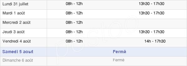 horaires d'ouverture de la Mairie Du Pouget