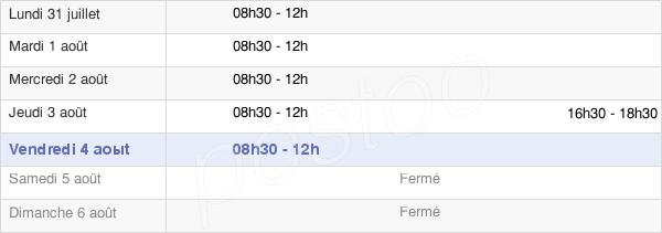 horaires d'ouverture de la Mairie De Fontanès