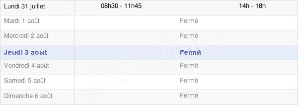 horaires d'ouverture de la Mairie De Celles