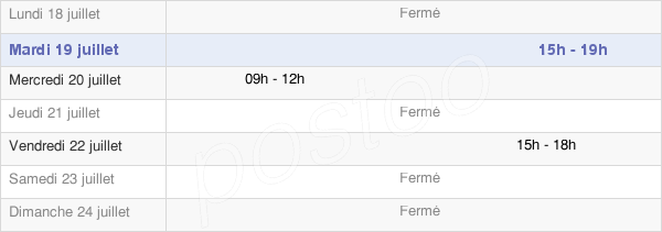 horaires d'ouverture de la Mairie De Saint-Lyé-La-Forêt