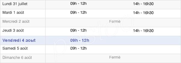 horaires d'ouverture de la Mairie De Créhen