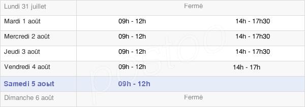 horaires d'ouverture de la Mairie De Bonny-Sur-Loire