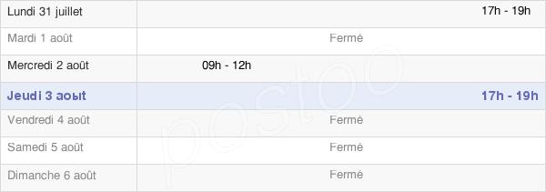 horaires d'ouverture de la Mairie De Germigny-Des-Prés