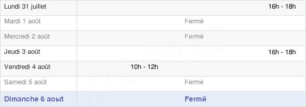 horaires d'ouverture de la Mairie De Faverelles