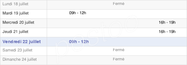horaires d'ouverture de la Mairie De Conflans-Sur-Loing
