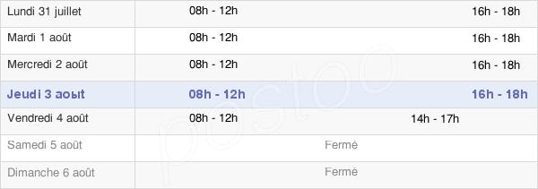 horaires d'ouverture de la Mairie De Bernis
