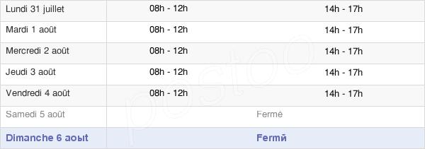 horaires d'ouverture de la Mairie De La Vernarède