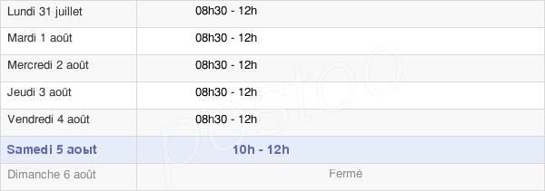 horaires d'ouverture de la Mairie De Congénies