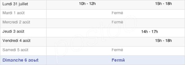 horaires d'ouverture de la Mairie De Saint-Firmin-Des-Bois