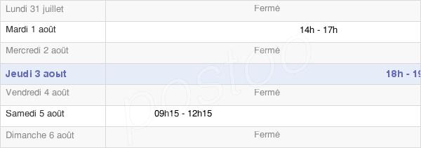 horaires d'ouverture de la Mairie De Conqueyrac