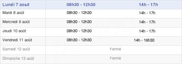 horaires d'ouverture de la Mairie De Pujaut